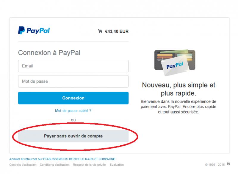 Questions r currents foire aux questions - Mode paiement paypal ...
